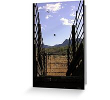 Sonoran Cattle Guard  Greeting Card
