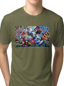 Cartoon Chaos Tri-blend T-Shirt