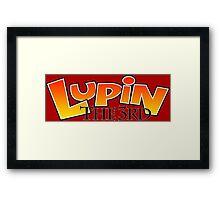 lupin the 3rd logo anime manga shirt Framed Print