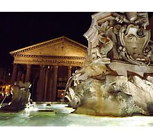 The Pantheon at night, Rome, Italy Photographic Print