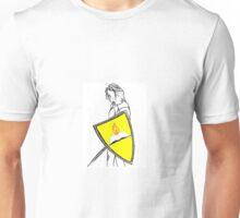 Fan Fiction Warrior - Yellow Shield Swag Unisex T-Shirt