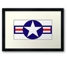 Aviation - US Army - Cool Star Framed Print