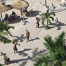 Drum and snail shell and Aztec Dances in Puerto Vallarta/Mexico at the Malecón by PtoVallartaMex