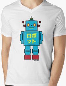 SCULL BOT Mens V-Neck T-Shirt