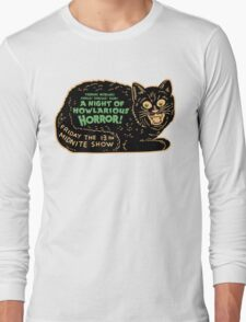 Vintage Halloween Black Cat Long Sleeve T-Shirt