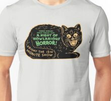 Vintage Halloween Black Cat Unisex T-Shirt