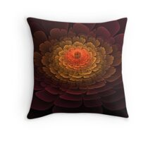 Golden Center Throw Pillow
