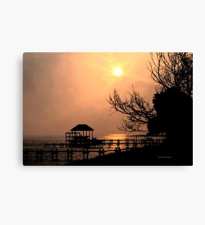 Late Evenining at Emerald Isle Canvas Print