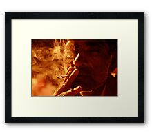 A Lotta Smoke Framed Print