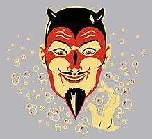 Vintage Halloween Devil Head Photographic Print