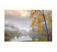 Fog in November Art Print