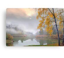 Fog in November Canvas Print