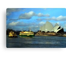 Boats near Sydney Opera House Canvas Print