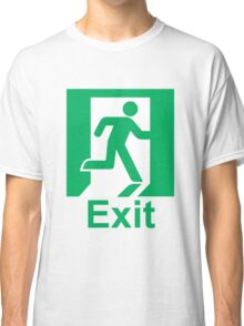Exit sign Classic T-Shirt