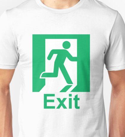 Exit sign Unisex T-Shirt