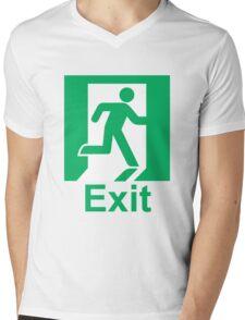 Exit sign Mens V-Neck T-Shirt