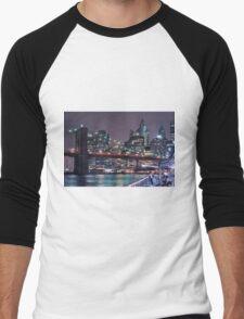 Lower East Side, Manhattan Men's Baseball ¾ T-Shirt