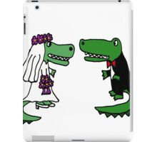 Coolf Funky Bride and Groom Alligator Wedding Art iPad Case/Skin