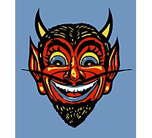 Vintage Halloween Red Devil Head  Photographic Print