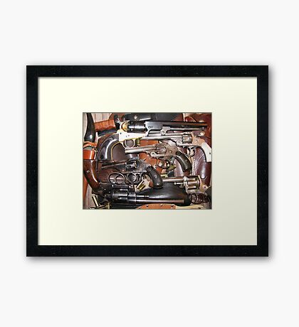 Antique Guns Collection photography Framed Print