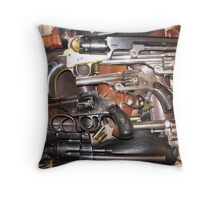 Antique Guns Collection photography Throw Pillow
