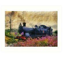 Steam Train, Shepton Mallet, Somerset, England, UK Art Print