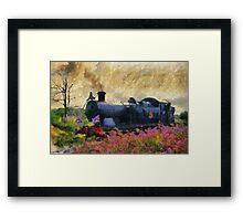 Steam Train, Shepton Mallet, Somerset, England, UK Framed Print