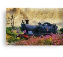 Steam Train, Shepton Mallet, Somerset, England, UK Canvas Print