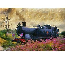 Steam Train, Shepton Mallet, Somerset, England, UK Photographic Print