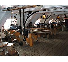 Tall ship, gun deck port. Photographic Print