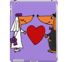 Awesome Bride and Groom Dachshund Dogs iPad Case/Skin