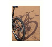 Shadow bike Art Print
