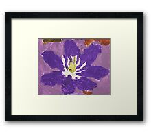 Impressionist Purple Lily Flower Framed Print