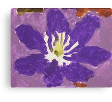 Impressionist Purple Lily Flower Canvas Print