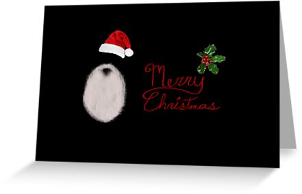 Santa's Beard - Christmas Card by Scott Mitchell