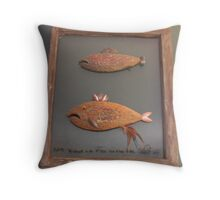 """Windows are fish to the sole 5 of 13. 23"""" x 28"""" $300.00 for original Throw Pillow"""