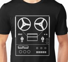 reel tape recorder - white Unisex T-Shirt