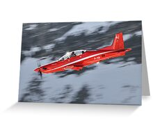Pilatus PC-21 - Swiss Air Force Greeting Card