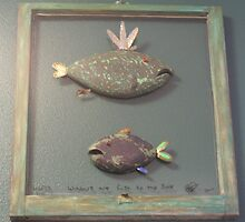 "Windows are fish to the sole 6 of 13.  30"" x 32"" (SOLD) by Fred Weiler"