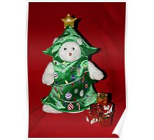 TeddyBear Christmas Tree Poster