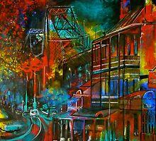 Story Bridge & Hotel, Brisbane. by Cathy Gilday