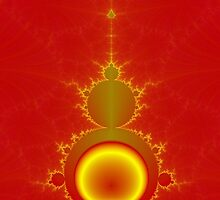 Mandelbrot in Red and Yellow by Objowl