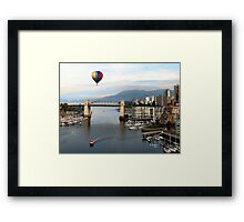 TRAVELING AROUND THE WORLD IN A BALOON Framed Print