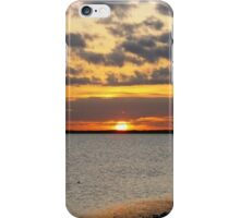 January Sunset on the Gulf of Mexico iPhone Case/Skin