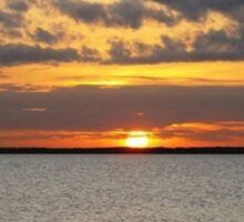 January Sunset on the Gulf of Mexico Sticker