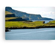 Cliffs of green Canvas Print