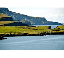 Cliffs of green Photographic Print