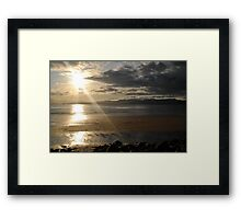 Sunset on Rossbeigh Beach Framed Print
