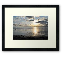 Sunset on Dingle Bay, Rossbeigh Beach Framed Print