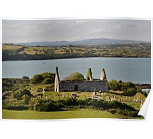 Church ruins in Baltimore, County Cork Poster